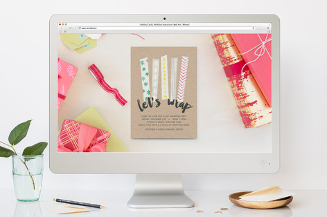 Lets Wrap Holiday Party Online Invitations