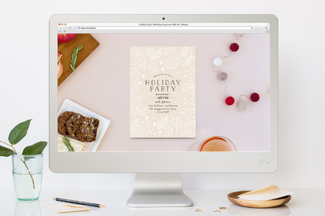 Powdered Blooms Holiday Party Online Invitations