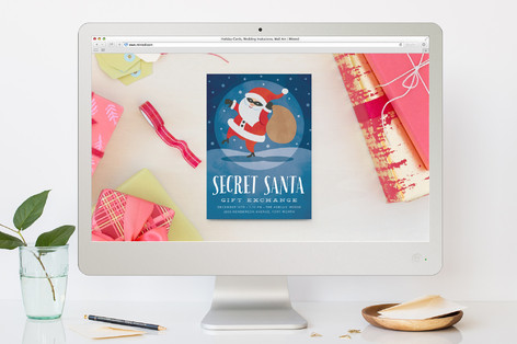 Secret Santa Holiday Party Online Invitations