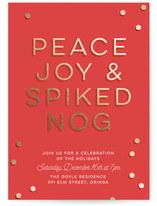 Spiked Nog Holiday Party Online Invitations