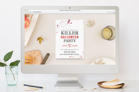 A Killer Party Halloween Online Invitations