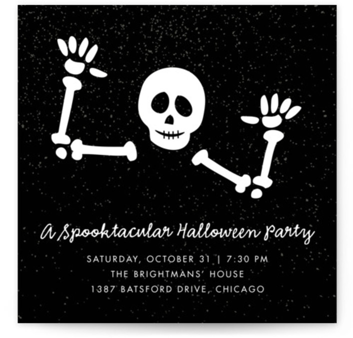 Halloween online invitations minted photo text pattern backer options available stopboris Choice Image