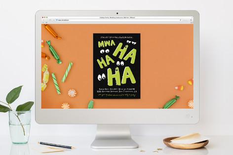 Mwa Ha Ha Halloween Online Invitations