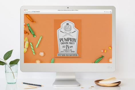 Pumpkin Party Halloween Online Invitations