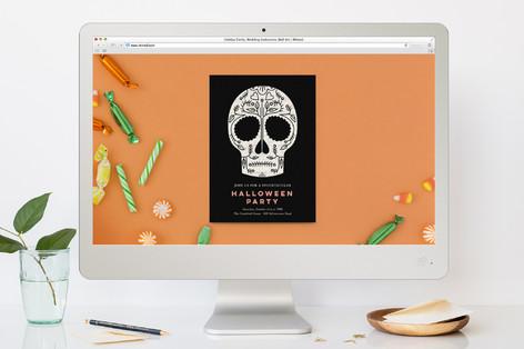 Sugar Skull Halloween Online Invitations