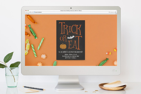Trick or Eat Halloween Online Invitations