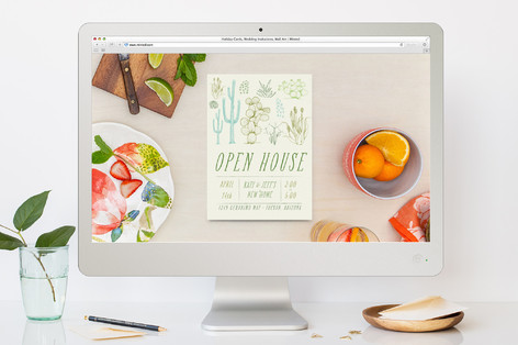 Cacti Open House Housewarming Party Online Invitations