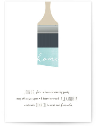 paintbrush housewarming party online invitations