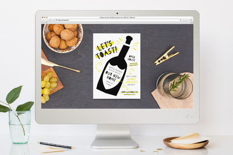 Pop The Bubbly Housewarming Party Online Invitations