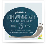Snail Housewarming Housewarming Party Online Invitations