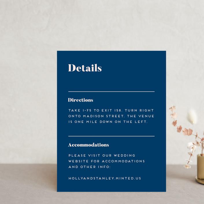 """Vogue"" - Direction Cards in Navy by Genna Blackburn."