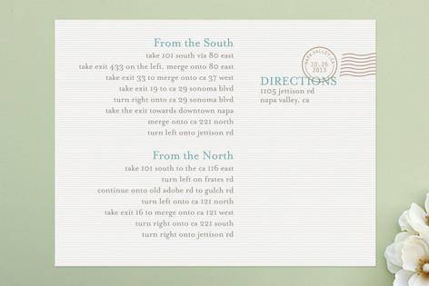 The Seasonal Send-Off Direction Cards
