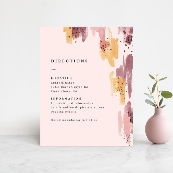 """Mod Brush"" - Modern Direction Cards in Blush by Lisa Fee Paura."