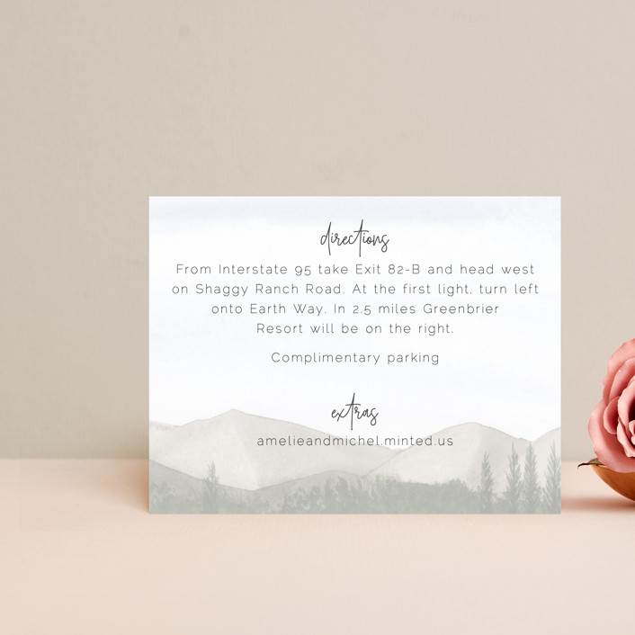 """""""muted mountains"""" - Rustic Direction Cards in Splendid Day by Deborah Chou."""