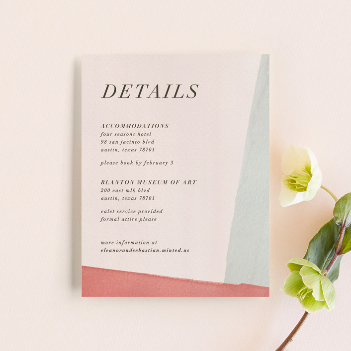 """""""Eleanor"""" - Modern Direction Cards in Rose by Creative Parasol."""
