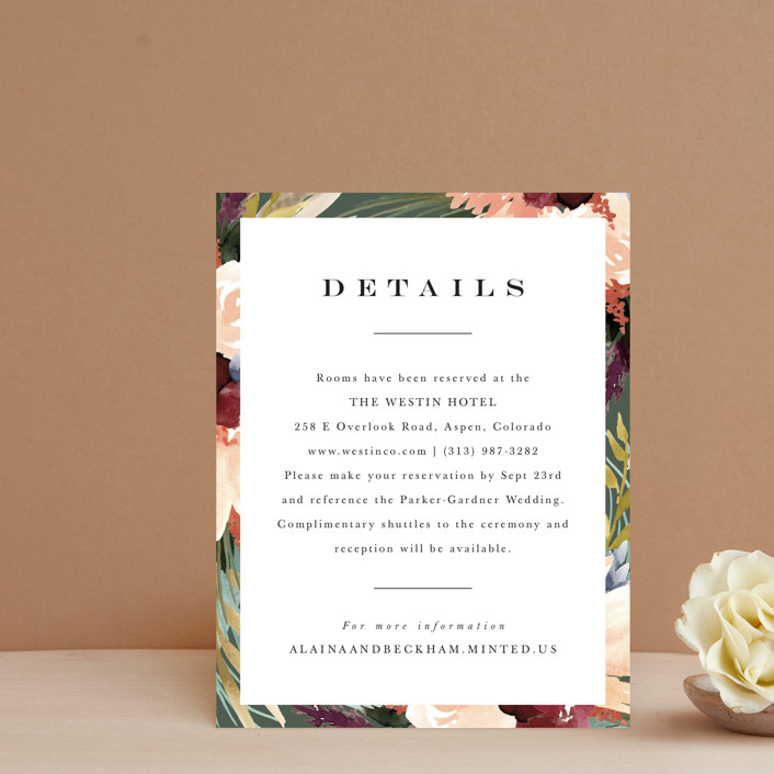 """""""rustic florals"""" - Direction Cards in Garden by Kate Ahn."""