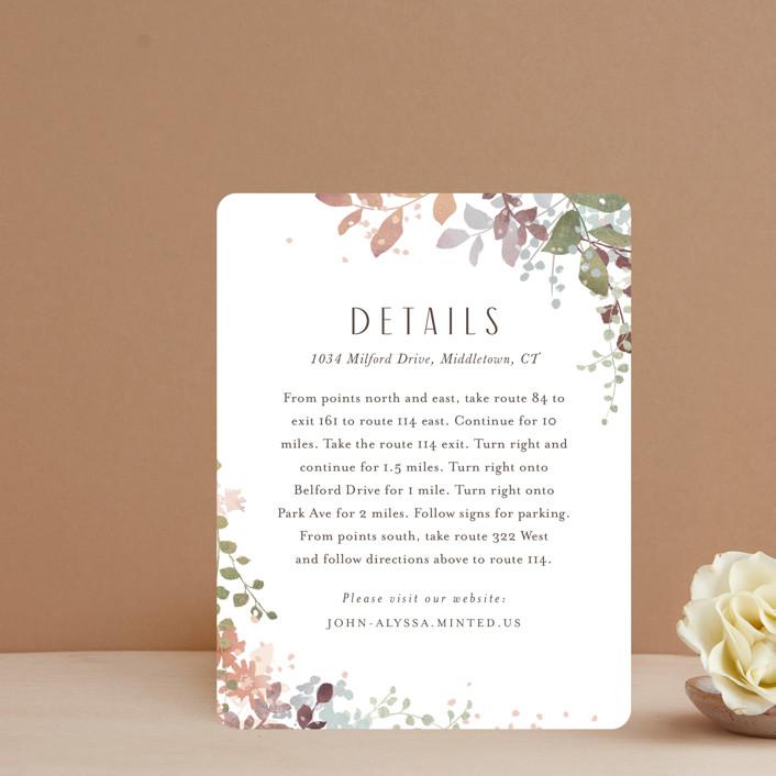 """""""Wesleyan Hill"""" - Direction Cards in Wildflower by Jennifer Wick."""