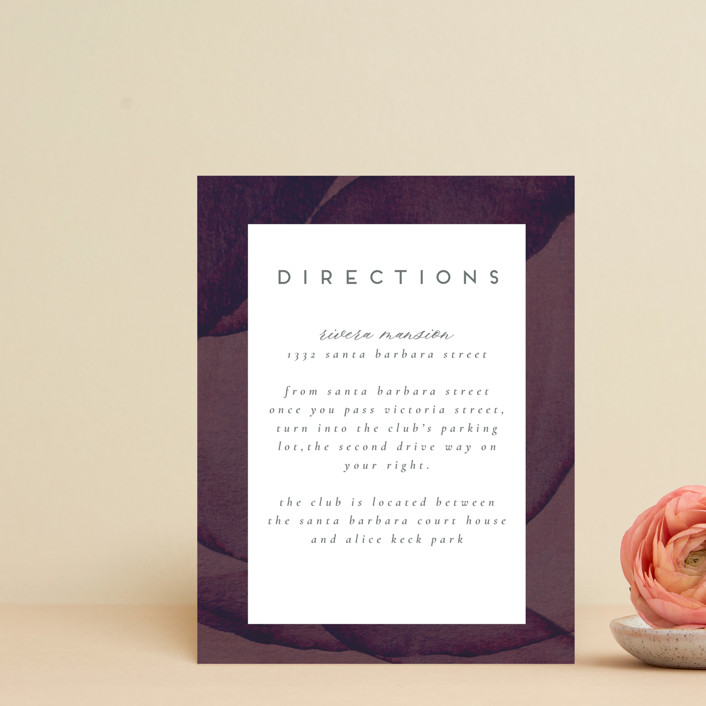 """Petalis"" - Direction Cards in Velvet by Christie Garcia."