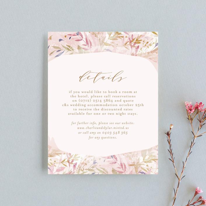 """Fantasy Floral Bride"" - Rustic Direction Cards in Blush by Phrosne Ras."
