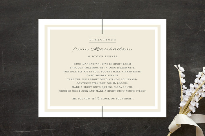 """Three Classic Lines"" - Formal, Classical Direction Cards in Barley by fatfatin."