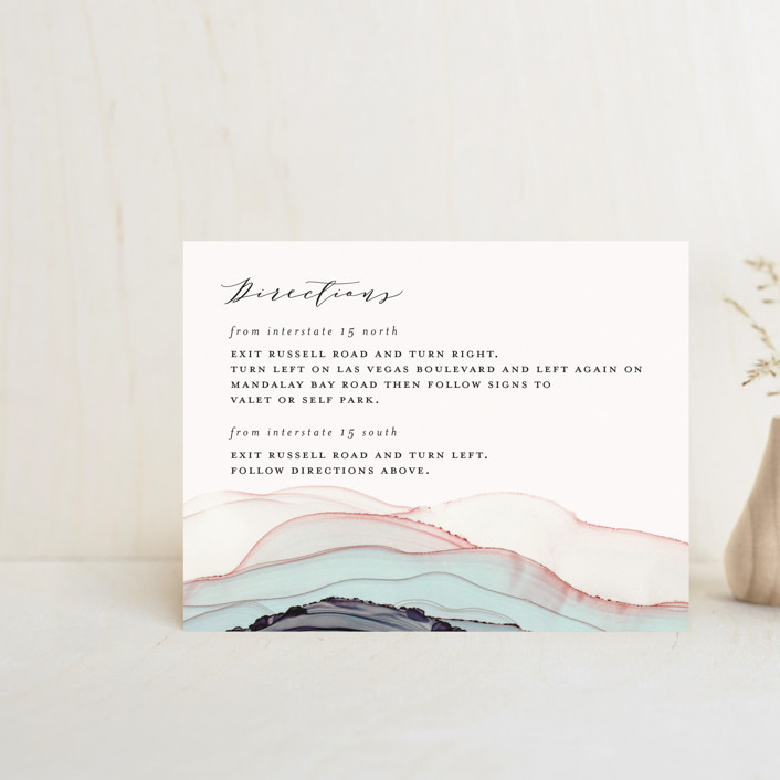 """""""Flow"""" - Bohemian Direction Cards in Emerald by Three Kisses Studio."""