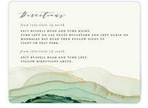 This is a green enclosure card by Three Kisses Studio called Flow with standard printing on signature in standard.
