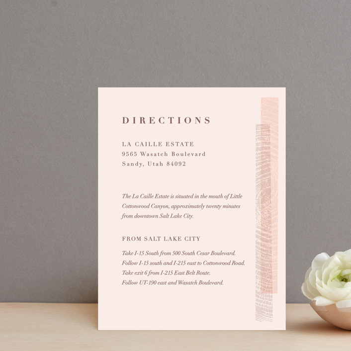 """""""engrained"""" - Rustic Direction Cards in Blossom by Robin Ott."""