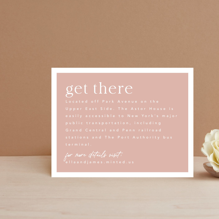 """""""Party Accordingly"""" - Funny Direction Cards in Blush by Caitlin Considine."""