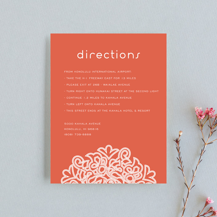 """""""Love Blossoms"""" - Bohemian Direction Cards in Persimmon by Guess What Design Studio."""