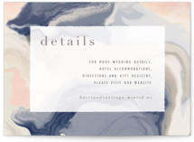 This is a blue enclosure card by Hooray Creative called marble majesty with standard printing on signature in standard.