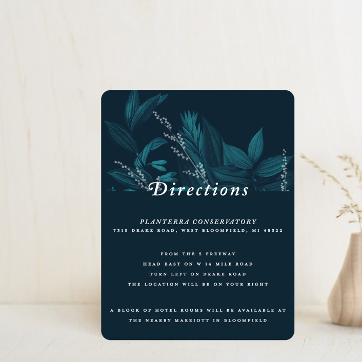 """Moonlit Garden"" - Direction Cards in Twilight by GeekInk Design."