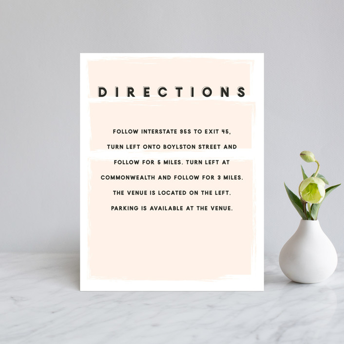 """bold blush"" - Direction Cards in Blush by frances."