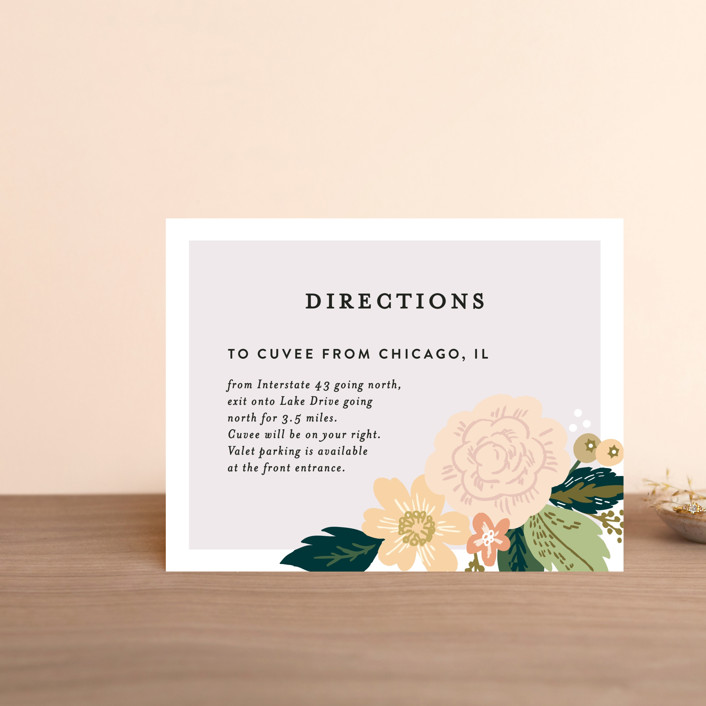 """Classic Floral"" - Floral & Botanical Direction Cards in Spring Blush by Alethea and Ruth."