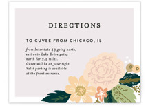 Classic Floral Direction Cards