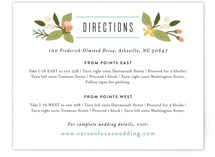Floral Ampersand Direction Cards
