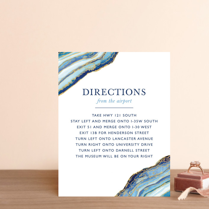 """""""Gilt Agate"""" - Bohemian Direction Cards in Navy by Kaydi Bishop."""