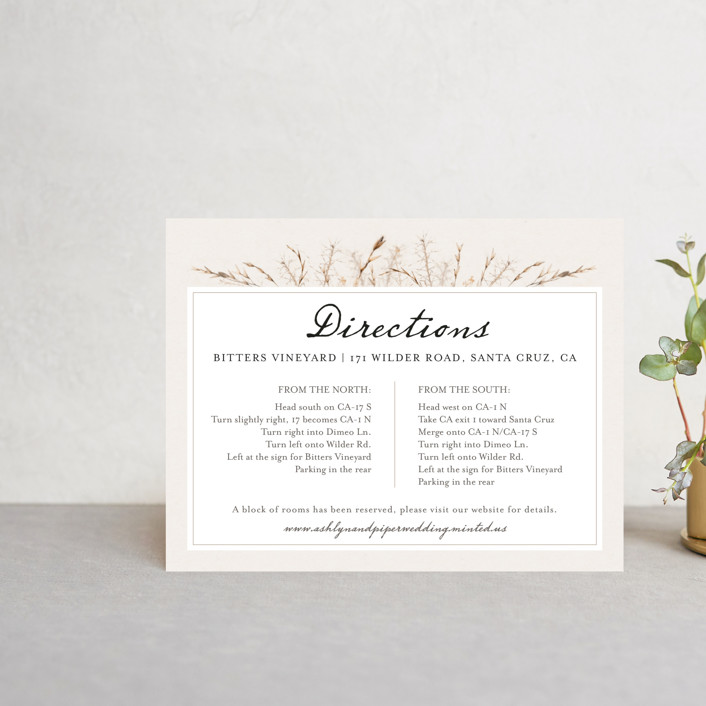 """""""Gone To Seed"""" - Rustic Direction Cards in Taupe by Honeybunch Studio."""