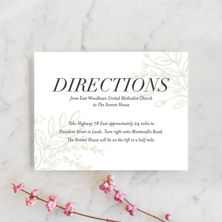 """Graceful"" - Rustic Direction Cards in Taupe by Jessica Williams."