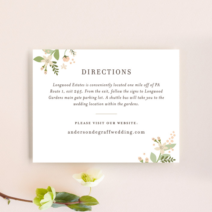 """Longwood Estates"" - Direction Cards in Peach Sorbet by Jennifer Wick."