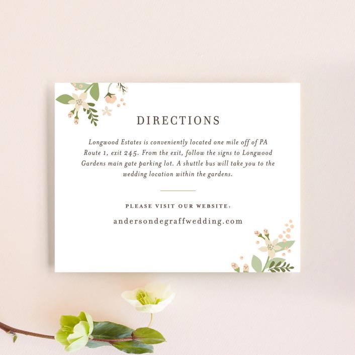"""""""Longwood Estates"""" - Direction Cards in Peach Sorbet by Jennifer Wick."""