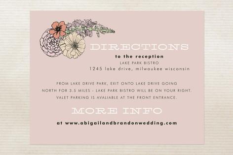 Antique Bouquet Direction Cards