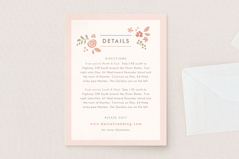 Pink Blossoms Direction Cards
