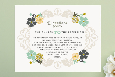 Floral Frame Direction Cards
