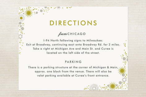 Sparkle Glitz Direction Cards