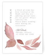 This is a brown enclosure card by Creo Study called Fallen with standard printing on signature in standard.