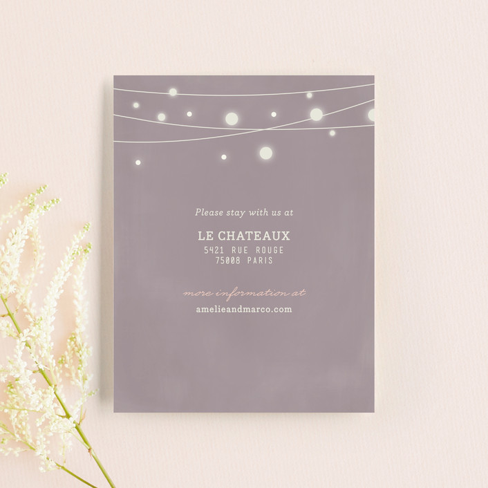 """""""Paris Lights"""" - Rustic, Whimsical & Funny Direction Cards in Violet by Lori Wemple."""