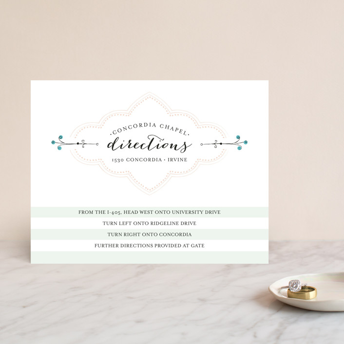 """Striped Sweet Nothings"" - Classical, Modern Direction Cards in Romantic by Frooted Design."
