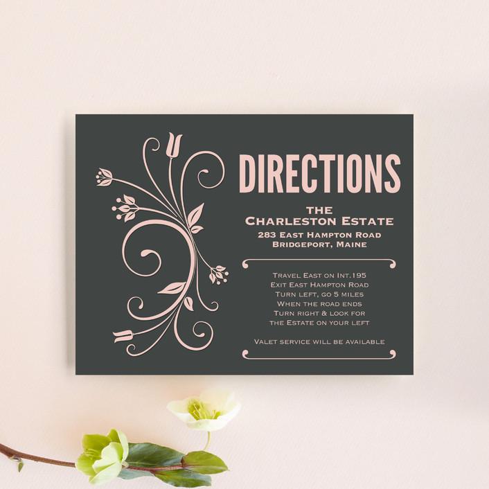 """Vintage Blush"" - Rustic, Vintage Direction Cards in Blush by GeekInk Design."