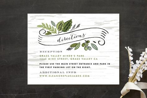 Birch Bark Woods Direction Cards