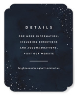 This is a blue enclosure card by Carly Reed Walker called Celestial with standard printing on signature in standard.